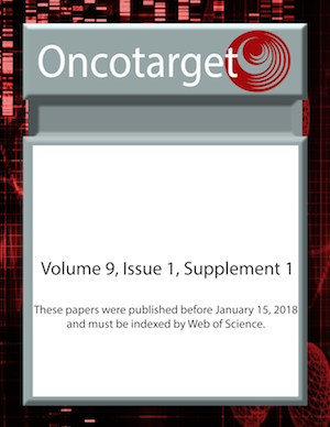Oncotarget Volume 9, Number 1, Supplement 1 Cover