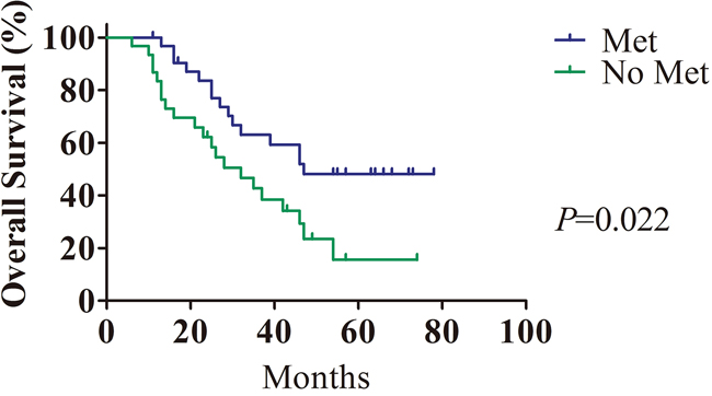 The prognostic value of metformin in HCC patients with T2DM.