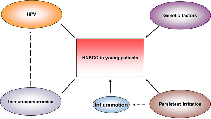 Risk factors of HNSCC in young patients.