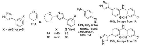Scheme 1: Synthesis of GKI-1/2.