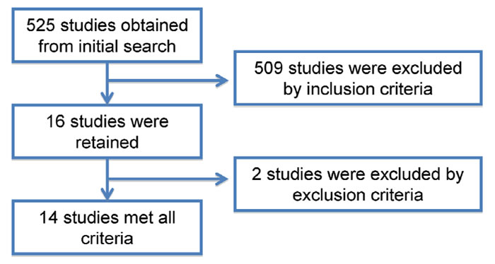 Flow chart of literature search and study selection.