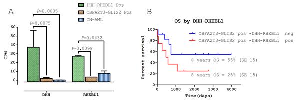Implications of DHH-RHEBL1 fusion transcript expression.