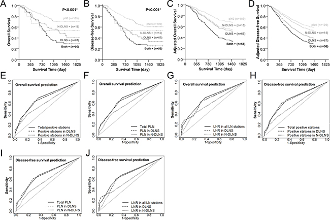 Lymph nodes metastasis in dominant lymph node stations (DLNS) serves as a stronger predictor to poorer overall and disease-free survival than non-dominant lymph node stations (N-DLNS).