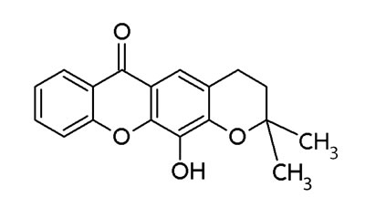 Structure of pyroxanthone 1.
