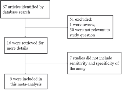 Flow chart of selection process for eligible studies.