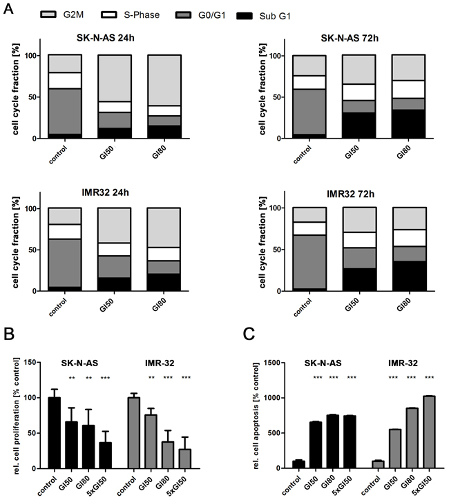 Inhibiting PLK1 with GSK461364 suppresses proliferation and induces both cell cycle arrest and apoptosis in neuroblastoma cells.