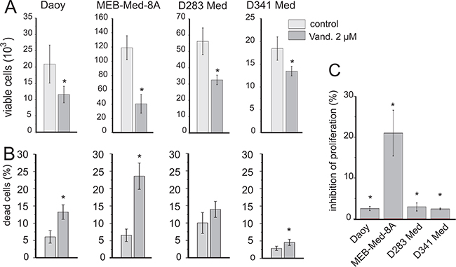 Vandetanib impairs cell viability in medulloblastoma.