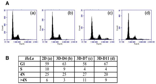 Cell cycle analysis on TSA/pc cells.