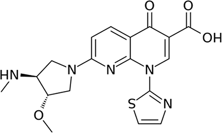 Chemical structure of vosaroxin.