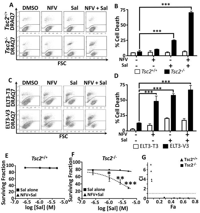Dual nelfinavir/salinomycin treatment kills