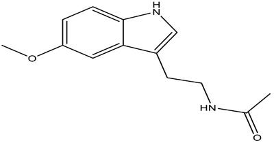 Structure of melatonin.