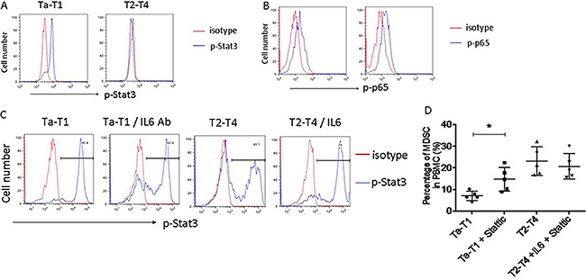 Stat3, but not NF-kB, regulates differentiation of MDSC induced by low levels of IL-6.
