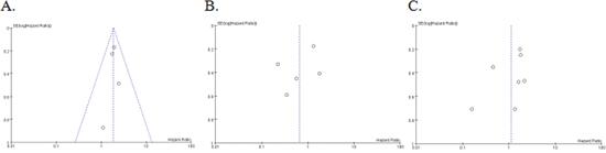 Funnel plot of 10 studies.