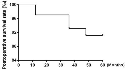 Postoperative survival rate.