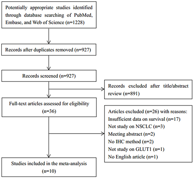 Flow chart demonstrating those studies that were processed for inclusion in the meta-analysis.