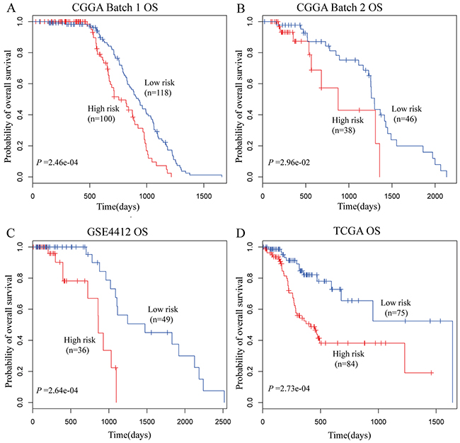 Overall Survival of glioma patients based on autophagy-related signature.