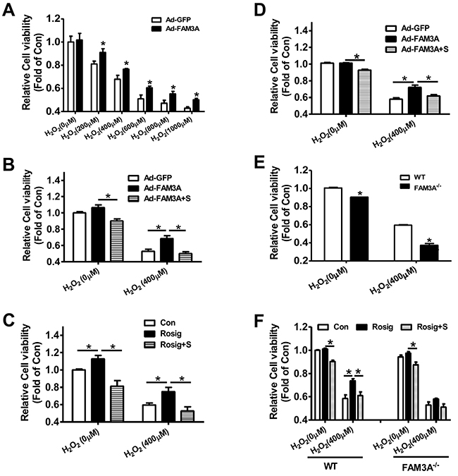 Deficiency of FAM3A exaggerated oxidative stress-induced cell death of hepatocytes.