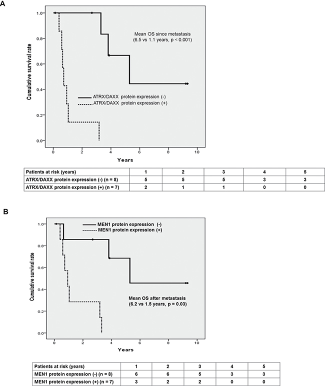 Prognostic factors affecting survival in patients with metastatic PanNETs.