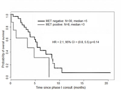 Kaplan-Meier overall survival curves for patients with gastroesophageal tumors according to