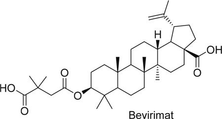 Structure of bevirimat.