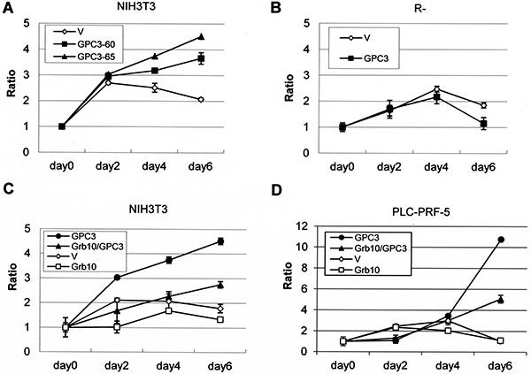 Grb10 decreases GPC3- and IGF-1R-dependent oncogenicity.