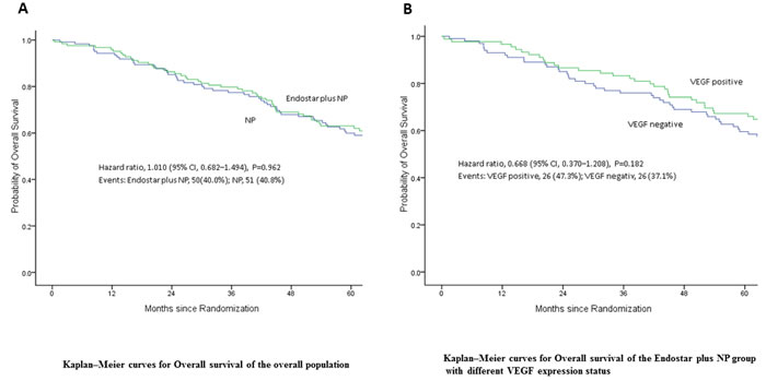 Overall survival (OS) of patients following treatment.