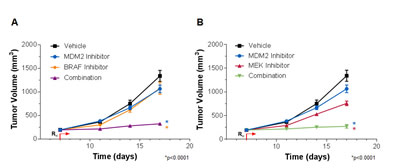 MDM2 Inhibition and MAPK Pathway Inhibition Cooperatively Suppress RKO Tumor Xenograft Growth.