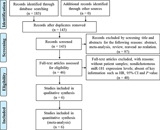 Flow diagram of the screening and selection process of studies.
