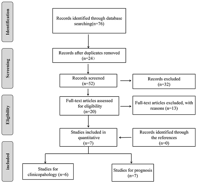Flow diagram of study search and selection process.