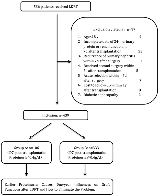Flow diagram of patients studied according to the exclusion criteria.