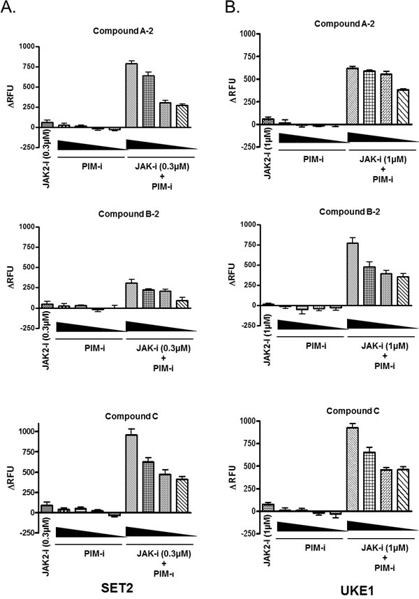 JAK2 and PIM inhibitor combination induces apoptosis in MPN cells.