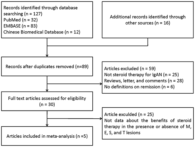 PRISMA flow diagram of identification process for eligible articles.