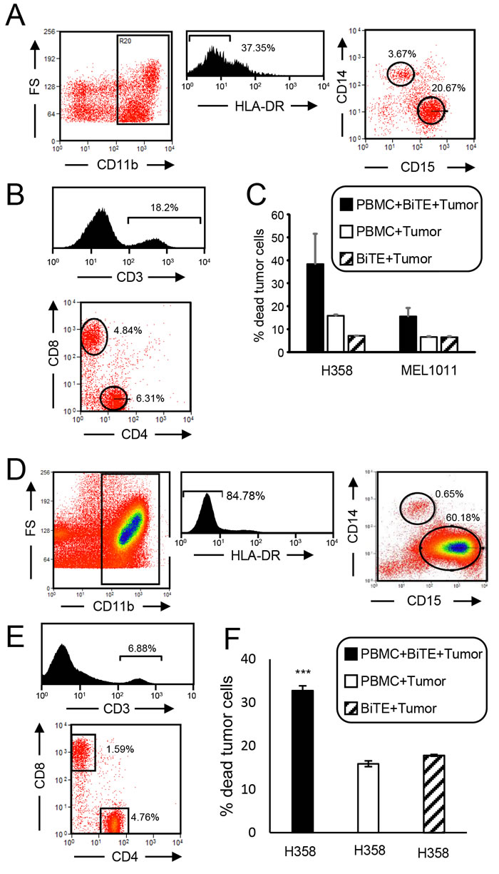 CD3xPDL1 BiTE activates cancer patients' PBMC that are cytotoxic for PDL1