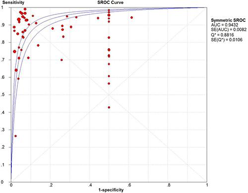 SROC curve of CEUS.