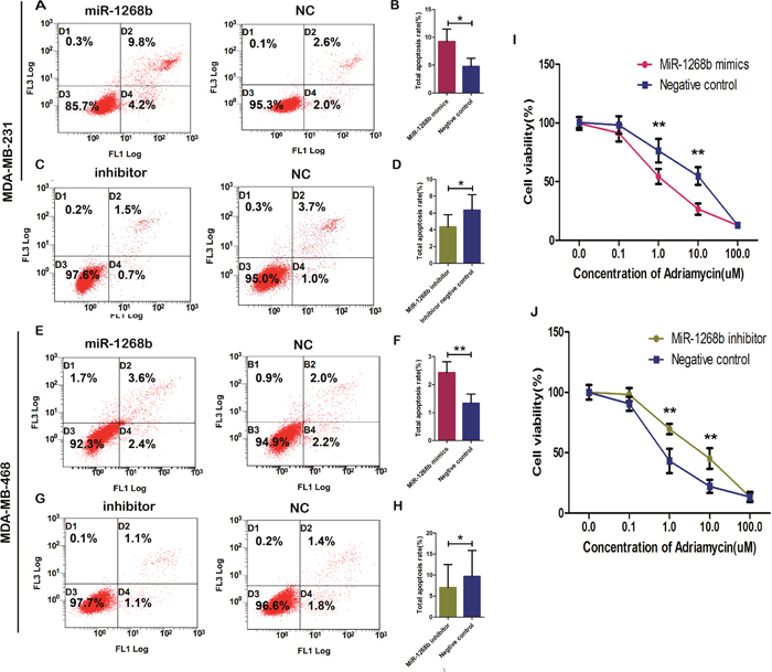 MiR-1268b induced apoptosis and enhanced chemosensitivity in breast cancer.