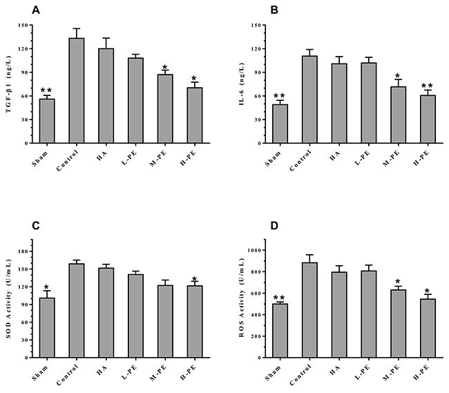 Inflammatory factors from arterial blood were quantified by ELISA.