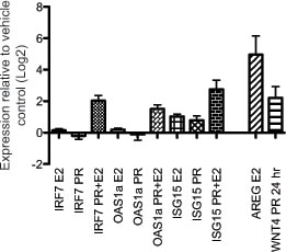 Mammary gland interferon response depends on combined estradiol and progesterone treatment of oophorectomized mice.