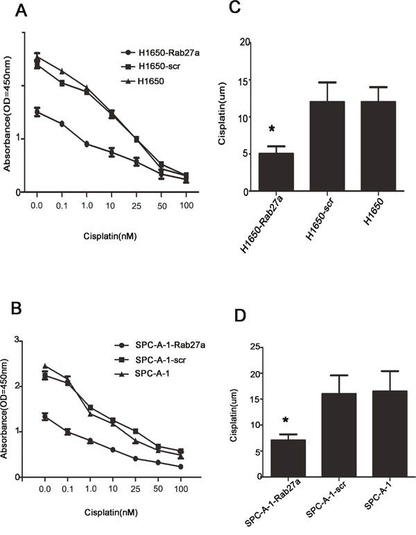 Rab27a expression increases sensitivity to chemotherapeutic drugs.