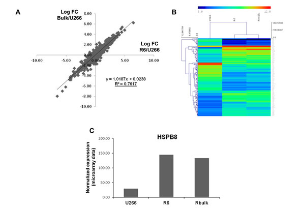 Whole genome profiling of velcade-resistant cells.