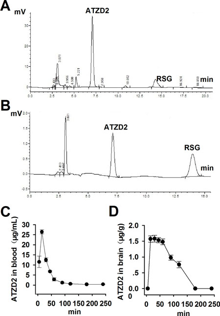 The pharmacokinetic study of compound ATZD2.