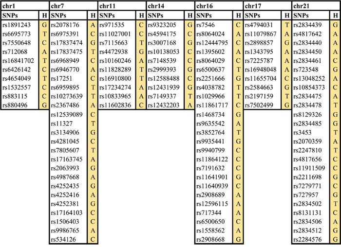 Seven novel cancer risk loci/haplotypes.