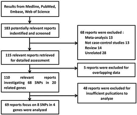 A flow diagram of the studies selection process.