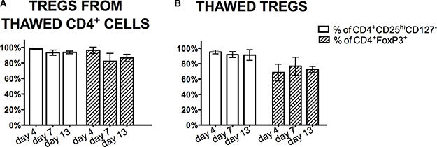 Treg phenotype during the expansion processing.