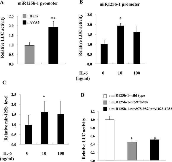 IL-6 induces miR-125b expression.