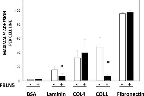 Effect of FBLN5 on EOC cell adhesion.