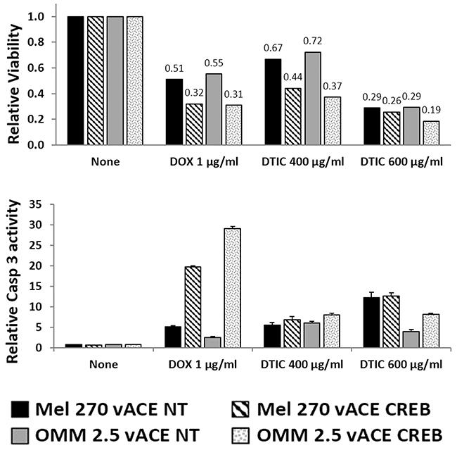 The effect of CREB on uveal melanoma's sensitivity to chemotherapy in normoxia.