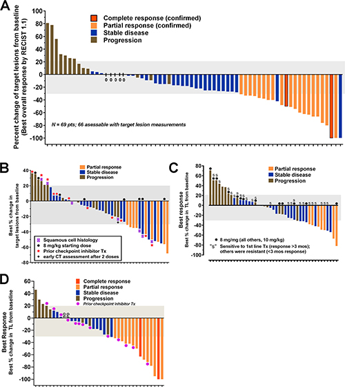 Anti-tumor responses reported in patients with several epithelial cancers who were treated with sacituzumab govitecan, an antibody-drug conjugate targeting TROP-2.