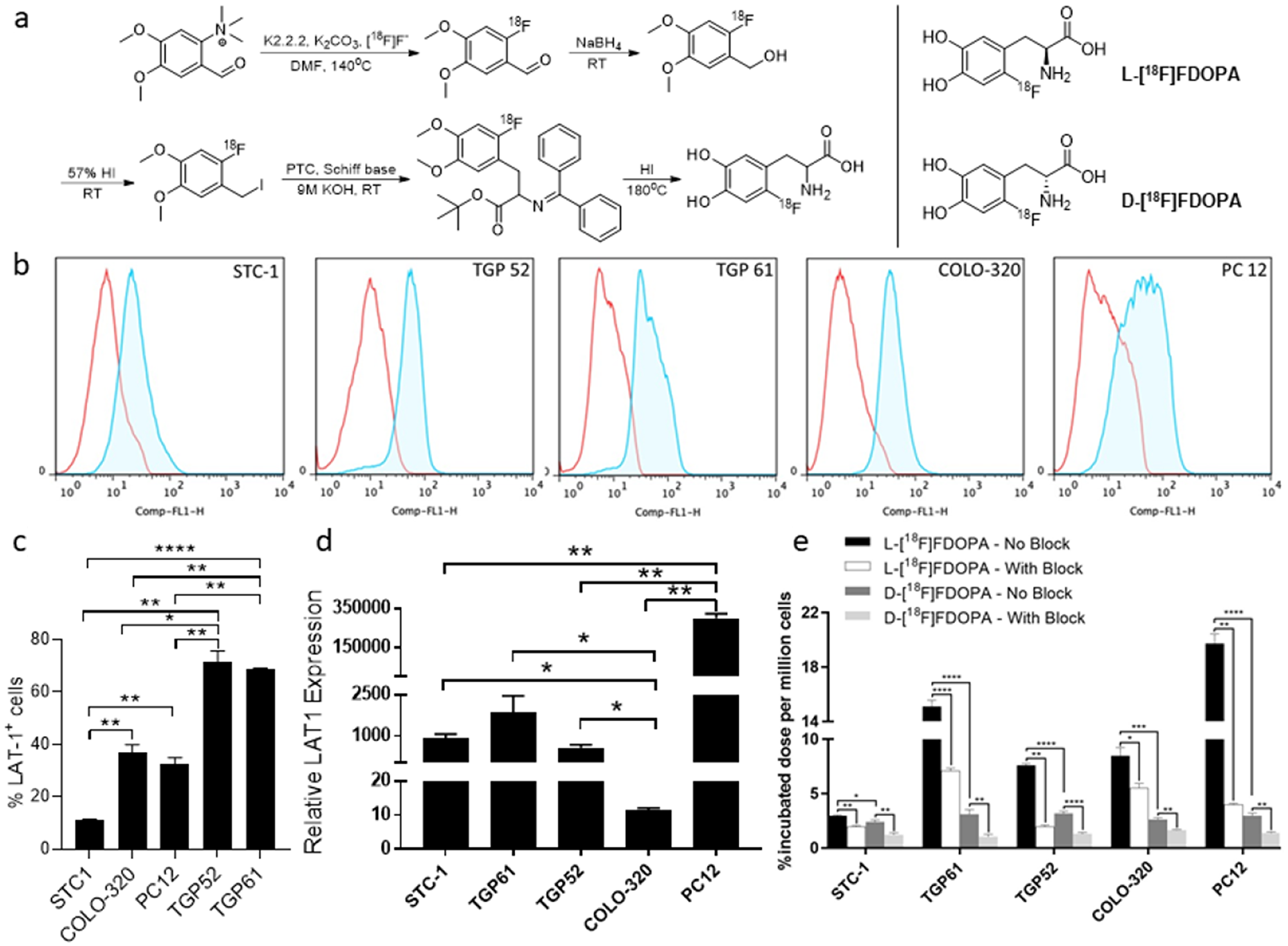 Preparation of [18F]FDOPA enantiomers and in vitro evaluation.
