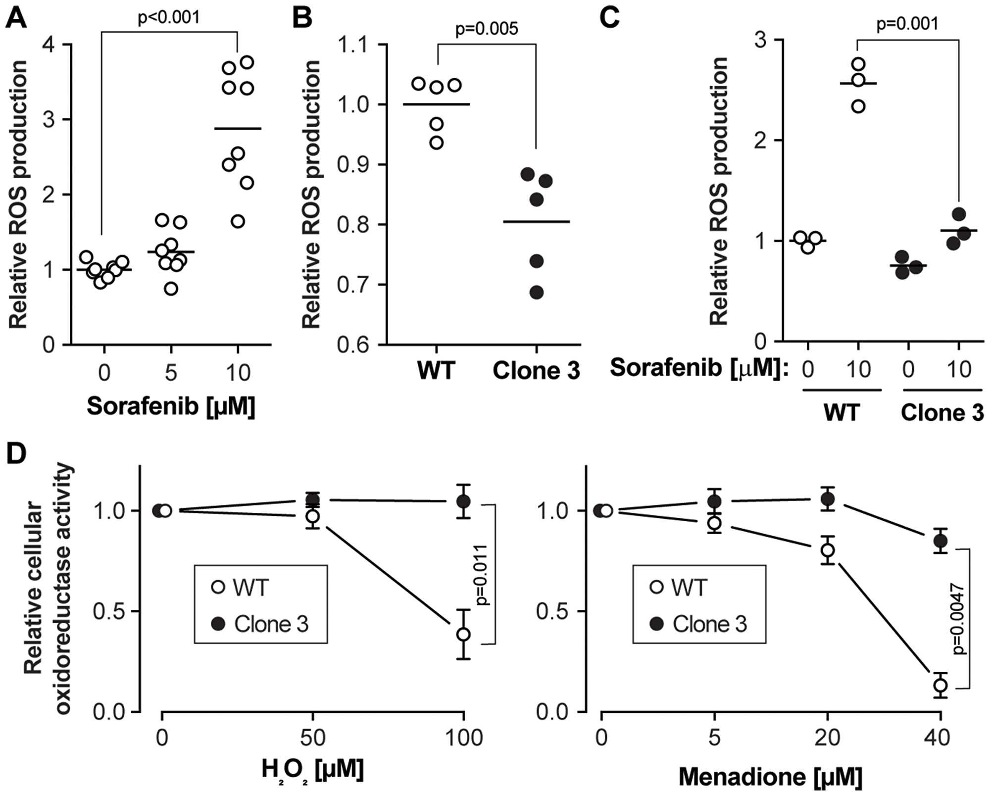 Sorafenib-induced ROS accumulation is reduced in KEAP1 disrupted cells.