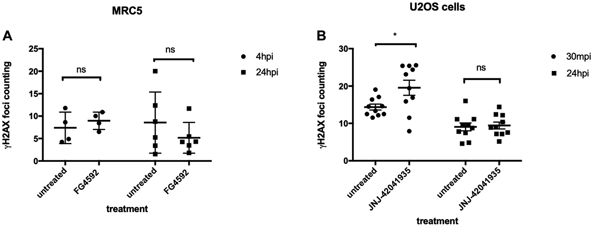 HIF activation does not protect mammalian cells from X-ray induced DNA damage.
